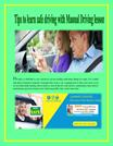 Tips to learn safe driving with Manual Driving lesson