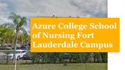 Azure College School of Nursing Fort Lauderdale Campus
