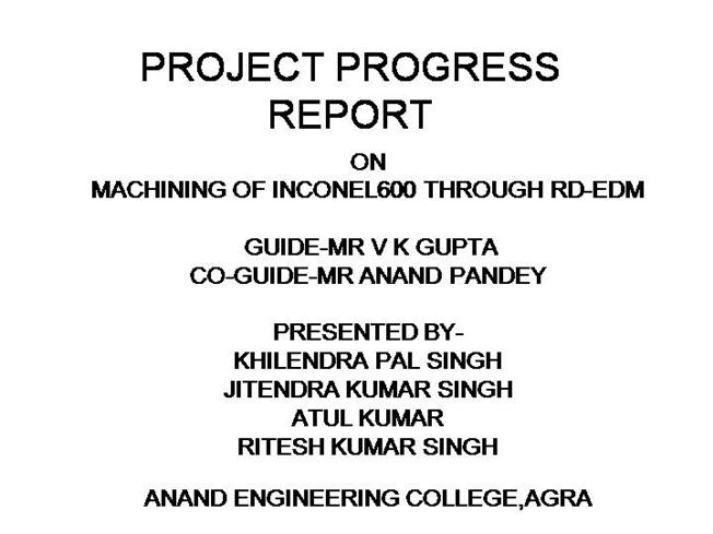 Project Progress Report Authorstream