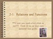 2.1 Relations and Functions ppt