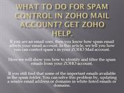 What to do for Spam Control in Zoho Mail Account Get Zoho Help