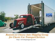 Why Choose Auto Shipping Group for Classic Car Transport Services