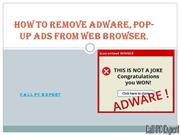 How to Remove Adware, Pop-up Ads from web browser