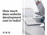 How much does website development cost in India