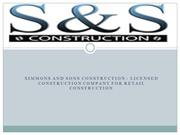 Licensed construction company for retail construction