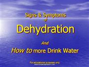The Signs and Symptoms of Dehydration