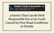3 Parties That Can Be Held Responsible For a Car Crash