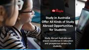 Study in Australia for Indian Students-Offer All Kinds of Study Abroad