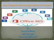 How to renew the Microsoft Office 365 product