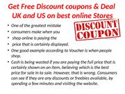 Discount coupons & Deal UK,Discount coupons & Deal US