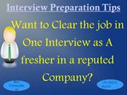 English Speaking and Interview Preparation Tips Course