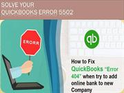 Remove QuickBooks Error 888 570 6939 Fix 404, QuickBooks Error 5502