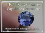How To Buy Online Sapphire Gemstone