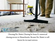 Hire a Post Construction Cleaning Service company - DecMasterCleaning