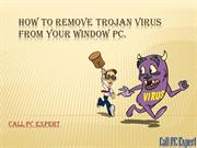 How to remove Trojan virus from your window