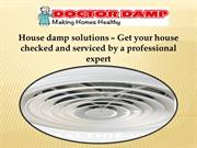 House damp solutions – Get your house checked and serviced by a profes