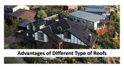 Advantages of different type of roofs