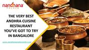 THE VERY BEST ANDHRA CUISINE RESTAURANT YOU'VE GOT TO TRY IN BANGALORE