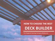 How to Choose the Best Deck Builder