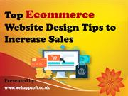 Top Ecommerce Website Design Tips to Increase Sales