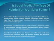 Is Social Media Any Type Of Helpful For Your Sales Funnel