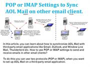 POP or IMAP Settings to Sync AOL Mail