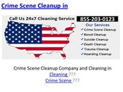 Crime Scene Cleanup Company and Cleaning in