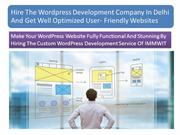 Hire the Best Wordpress Development Company