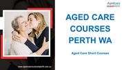 Aged Care Courses Perth, WA
