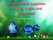 Precious Blue Sapphire- Mining, Origin And Properties