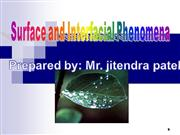 Surface Tension and interfacial phenomen