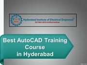 Best AutoCAD training course in Hyderabad, Autocad Classes in Hyd