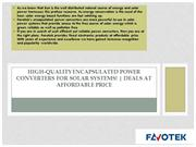 Quality Encapsulated Power Converters by Favotek – Order Now