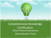 Comprehensive Knowledge Certification by