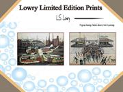 Excellent Lowry Limited Edition Prints | Cornwater Fine Art