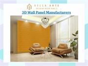 3D Wall Panel Manufacturers
