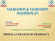VALIDATION & VALIDATION MASTER PLAN 2