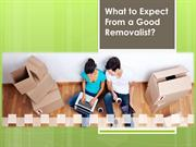 What to Expect From a Good Removalist