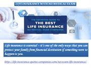 LIFE INSURANCE WITH NO MEDICAL EXAM
