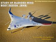 Study of Blended wing body design BWB