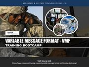 Variable Message Format (VMF) Training Bootcamp Tonex Training