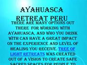 Ayahuasca Retreat Peru