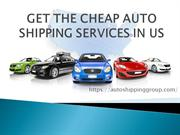 Cheap Auto Shipping | Car Shipping Services in the USA