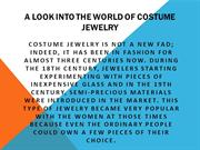A look into the world of Costume Jewelry