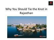 Why You Should Tie the Knot in Rajasthan