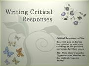 Writing Critical Responses
