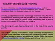 Security guard online training