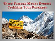 Three Famous Mount Everest Trekking Tour Packages
