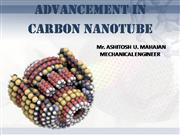 ADVANCEMENT IN CARBON NANOTUBE