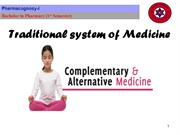 Traditional system of medicine